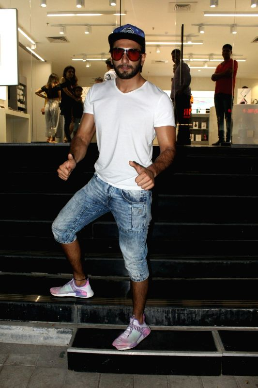 Actor Ranveer Singh seen at a Maple store in Bandra, Mumbai on May 19, 2018.