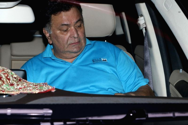 Actor Rishi Kapoor spotted at Chhatrapati Shivaji Maharaj International airport in Mumbai.