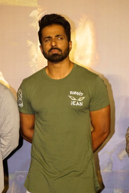 "Actor Sonu Sood at the trailer launch of his upcoming film ""Paltan"", in Mumbai on Aug 2, 2018.(Image Source: IANS)"
