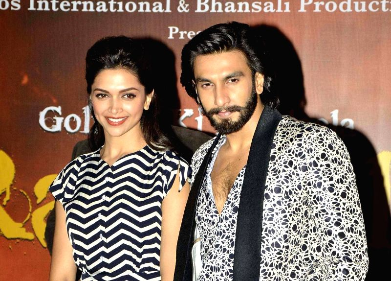: Actors Deepika Padukone and Ranveer Singh during the inauguration of India's first megaplex from Cinepolis at Seasons Mall in Pune on November 15, 2013. (Photo: IANS).(Image Source: IANS)