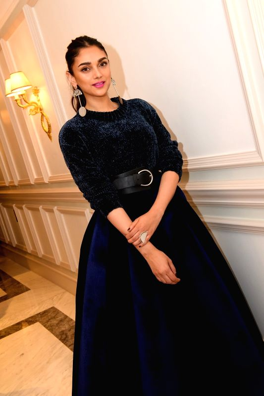 Actress Aditi Rao Hydari at Fashion Designer Satya Paul's Pre- Diwali celebration in London on Oct 16, 2017.