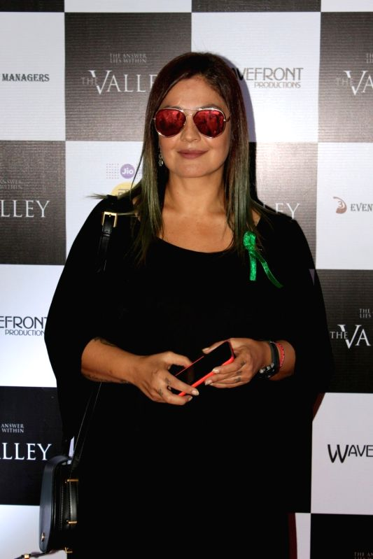 "Actress and Director Pooja Bhatt during the promotion of film ""The Valley"" in Mumbai on Oct 10, 2017.(Image Source: IANS)"