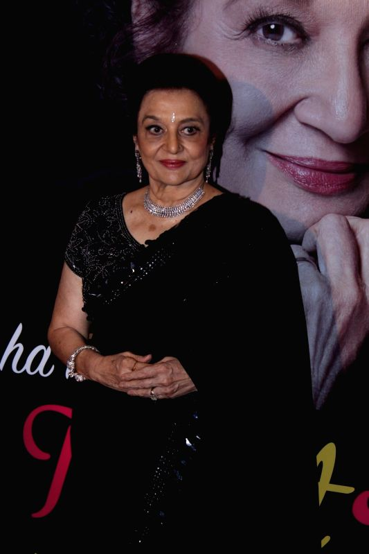 Actress Asha Parekh during the unveiling of her autobiography The Hit Girl in Mumbai on April 10, 2017.(Image Source: IANS)