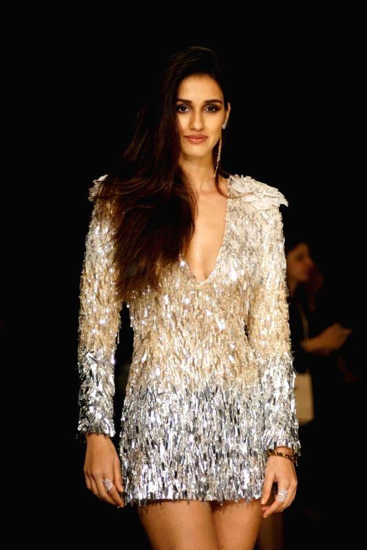 Actress Disha Patani during the Lakme Fashion Week Winter/Festive 2017 in Mumbai on Aug 20, 2017.