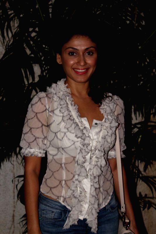 Actress Manjari Fadnis during the screening of short film Raakh in Mumbai on Nov. 4, 2016.