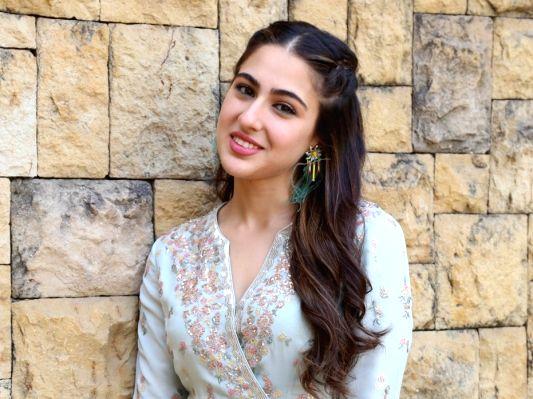 Sara Ali Khan looks cute in all-floral sharara suit at Love Aaj Kal promotion