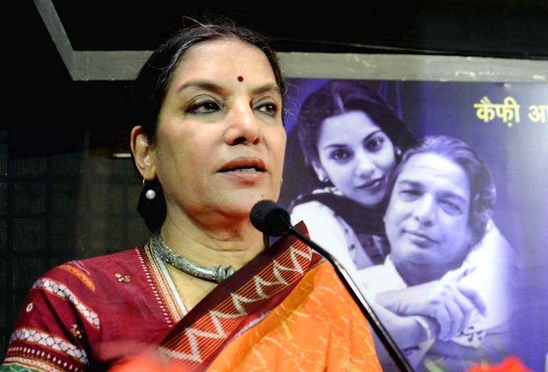 : Actress Shabana Azmi. (Image Source: IANS).