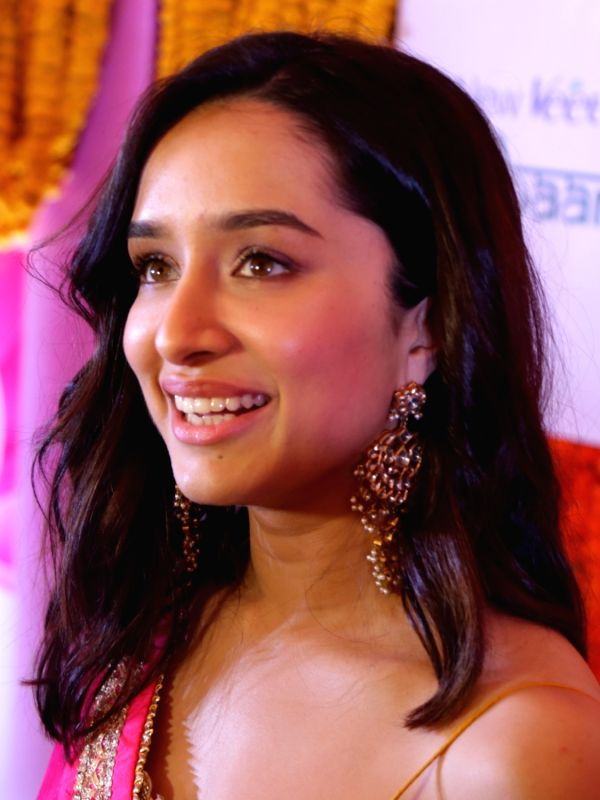 "Actress Shraddha Kapoor during a ""haldi ceremony"" - claimed to be the biggest - organised by a cosmetic company in New Delhi, on April 25, 2018.(Photo:Amlan Paliwal/IANS)"
