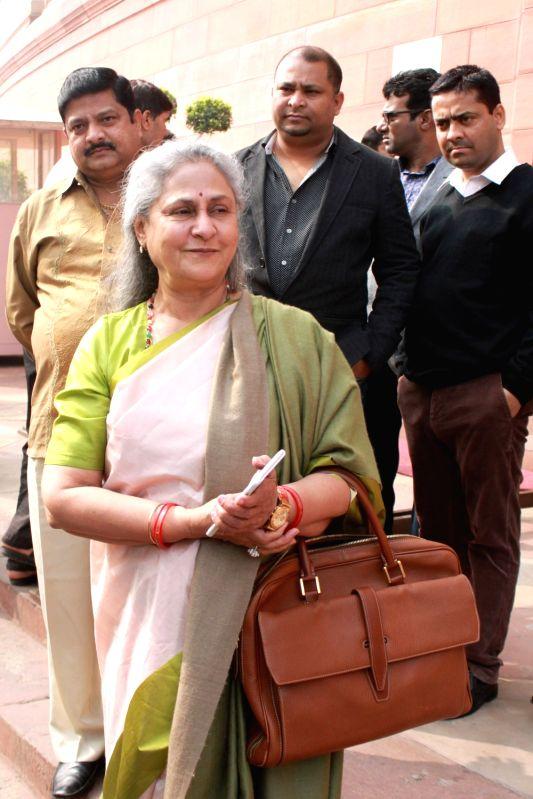 Actress turned politician Jaya Bachchan at Parliament in New Delhi on Nov 30, 2016.