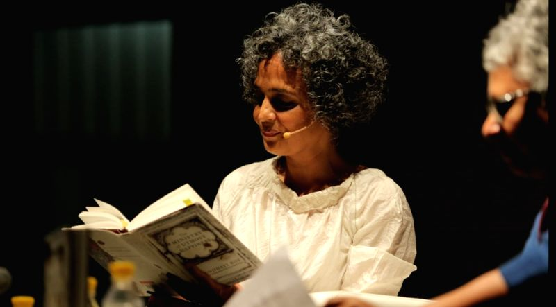 Author Arundhati Roy reads from the