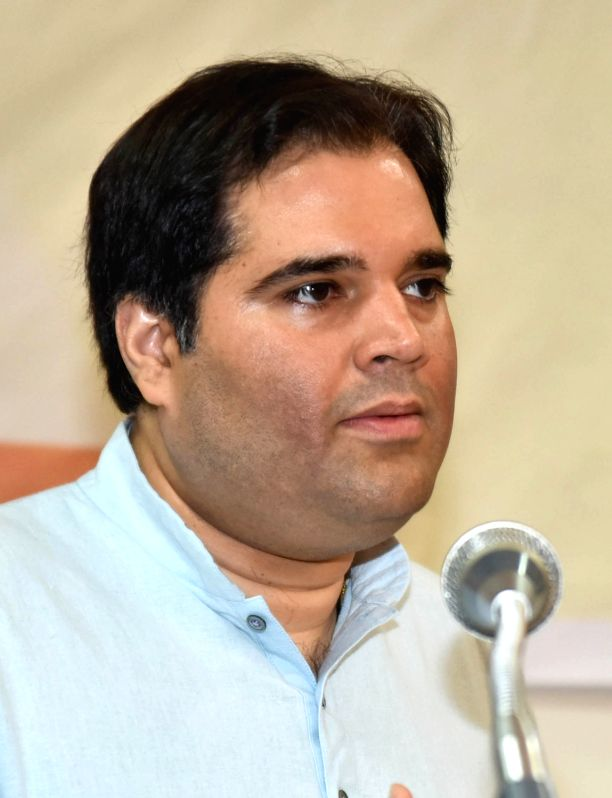"BJP MP Varun Gandhi addresses during ""The Road to Justice opportunities and Impediments"" seminar, organised by  National Law School of India, in Bengaluru, on July 19, 2018.(Image Source: IANS)"