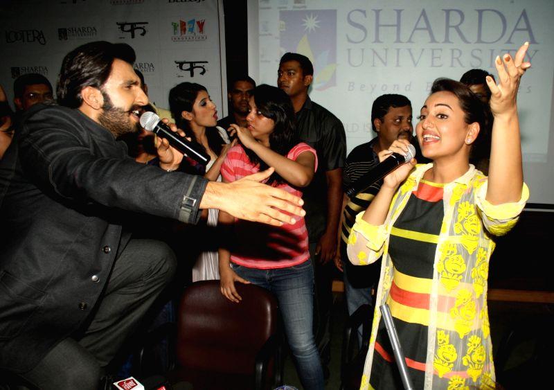 "Promotion of film ""Lootera"" at Sharda University Greater Noida"