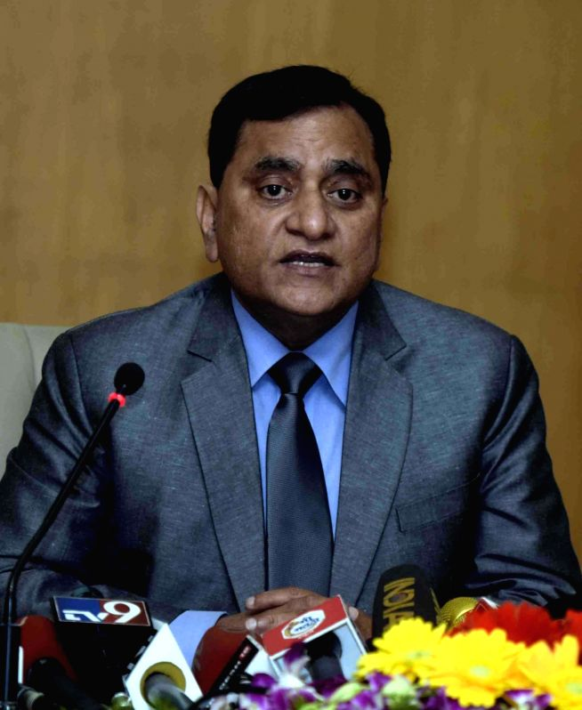 Central Industrial Security Force (CISF) Additional Director General (Airport Security) OP Singh addresses a press conference in Mumbai on Dec 14, 2016.