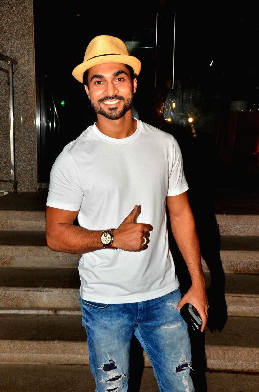 Choreographer Salman Yusuff Khan during Karanvir Bohra birthday celebration in Mumbai, on Aug 28, 2015.