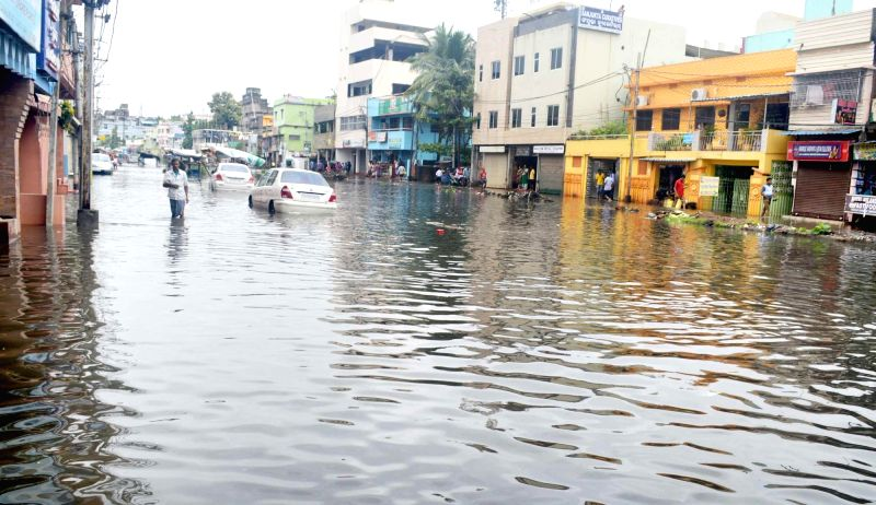 : Cuttack: A view of flooded streets of Cuttack on July 21, 2018. (Photo: IANS).(Image Source: IANS)
