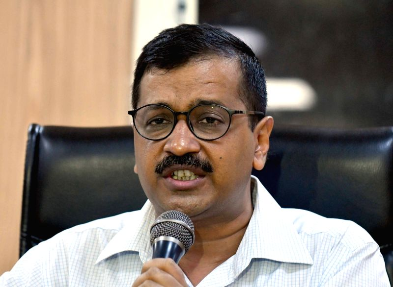 Delhi Chief Minister Arvind Kejriwal addresses a press conference, in New Delhi on June 11, 2018.(Image Source: IANS)