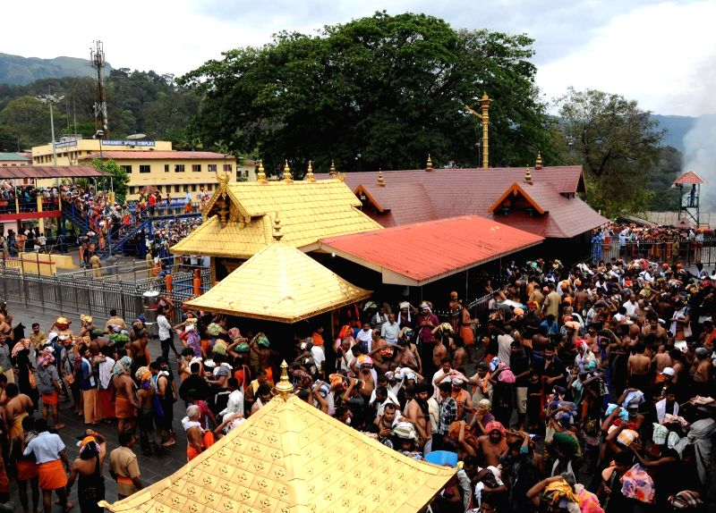 Devotees throng the Lord Ayyappa temple in Sabarimala(Image Source: IANS)