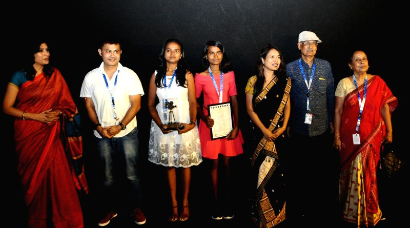 Director and Producer Rima Das and the Cast and Crew of the film 'Village Rockstars' felicitate during the 48th International Film Festival of India (IFFI-2017), in Panaji, Goa on Nov 21, ...(Image Source: IANS/PIB)