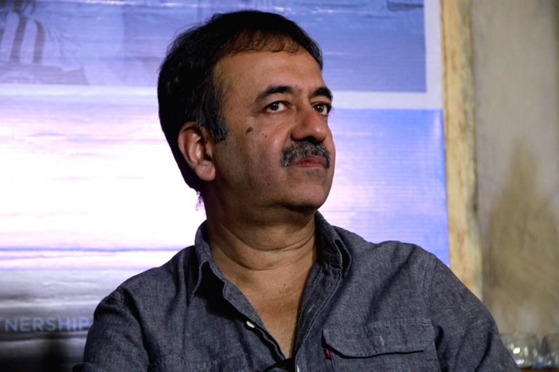 Director Rajkumar Hirani during a press announcement for 'Films For Change' initiative organised by Good Pitch India in Mumbai on March 14, 2018.