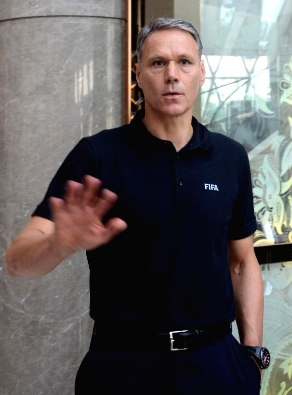 Dutch legend and FIFA chief officer for technical development Marco van Basten at a Kolkata Hotel on Oct 27, 2017.