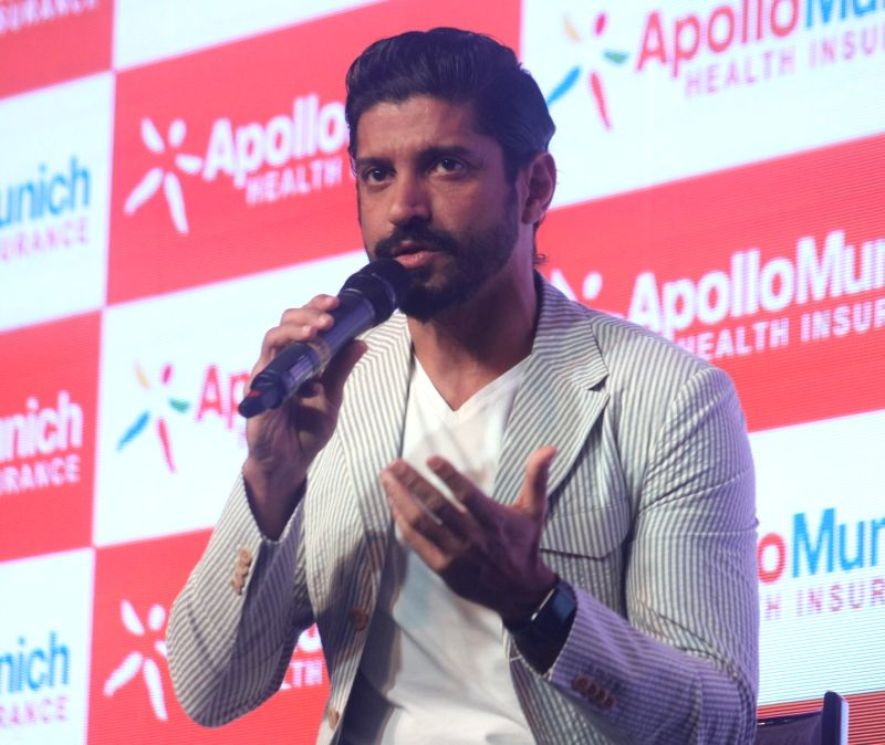Filmmaker-actor Farhan Akhtar during a programme in New Delhi, on Dec 6, 2017.