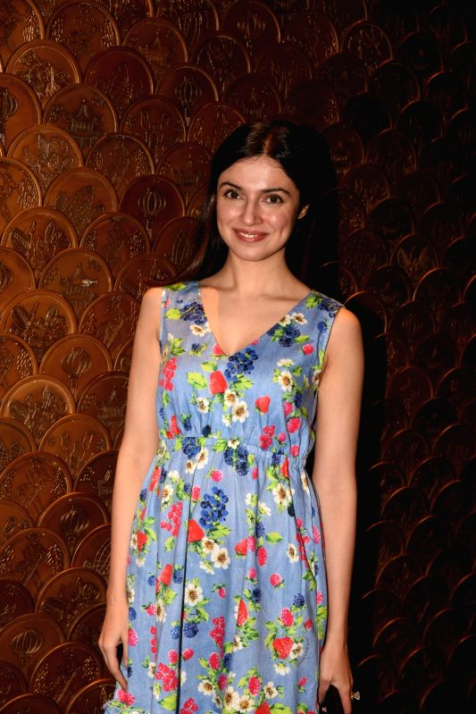 Filmmaker-actress Divya Khosla Kumar at producer Tanuj Garg's birthday party in Mumbai on Dec 5, 2017.