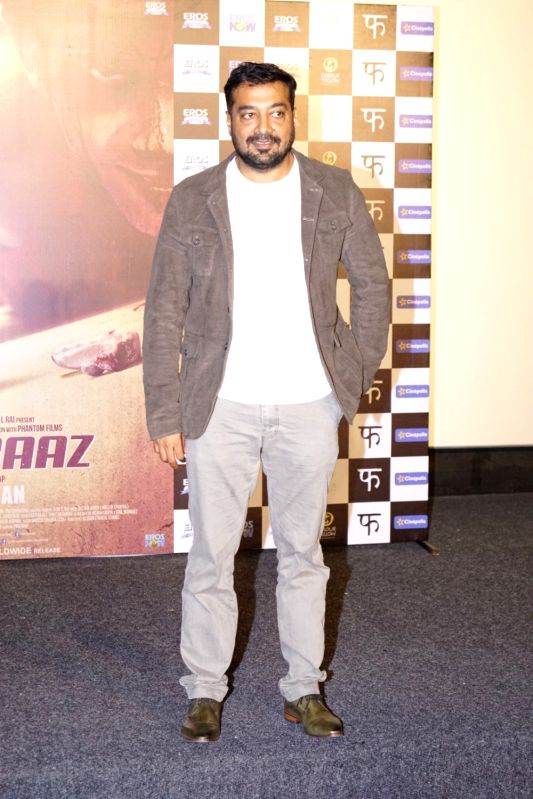 Filmmaker Anurag Kashyap at the trailer launch of his upcoming film