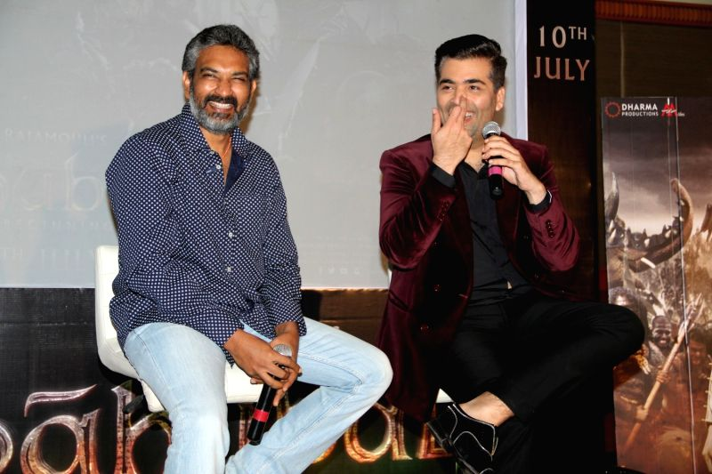 Filmmaker Karan Johar and S S Rajamouli
