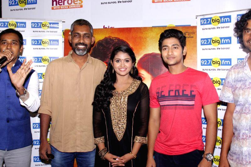 filmmaker nagraj manjule actors akash thosar and rinku rajguru during ...