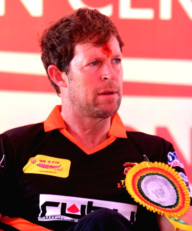 Former South African cricketer Jonty Rhodes during his visit to a Chennai school on Aug 9, 2017.