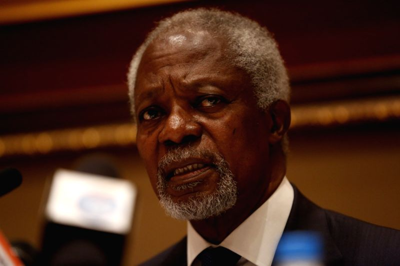 Former UN Secretary-General and Nobel Peace Prize winner Kofi Annan. (File Photo: XINHUA/IANS)(Image Source: IANS)