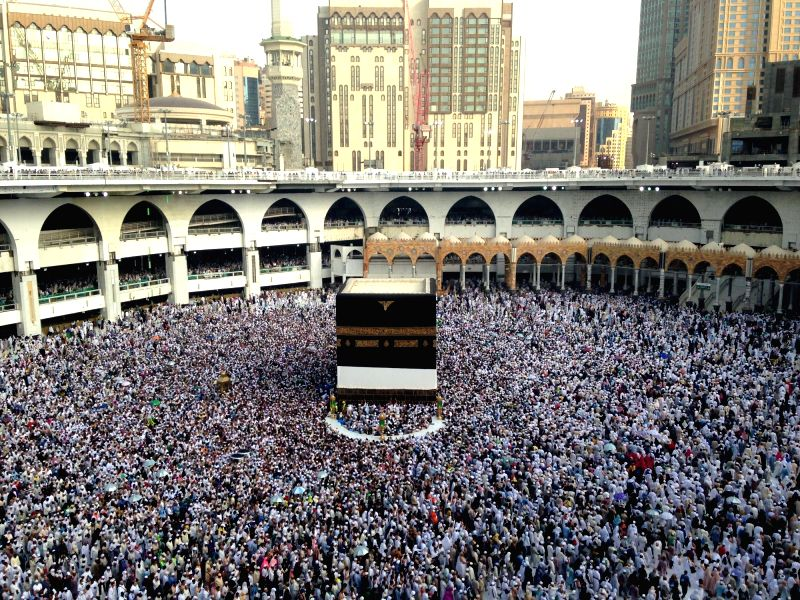 Grand Mosque in Mecca, Saudi Arabia. (Xinhua/Wang BoI/IANS)(Image Source: IANS News)