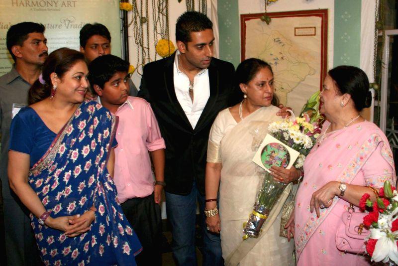 Aishwarya Rai Bachcham's mother Vrinda Rai with a guest at ...