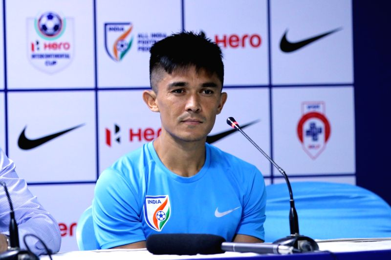 Indian national football team captain Sunil Chhetri. (Image Source: IANS)