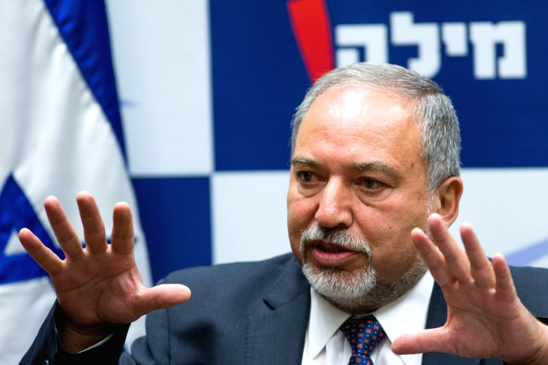 JERUSALEM, May 19, 2016 - Israeli far-right lawmaker Avigdor Liberman addresses a press conference in Jerusalem May 18, 2016. Prime Minister Benjamin Netanyahu sought to court Avigdor Lieberman on ...
