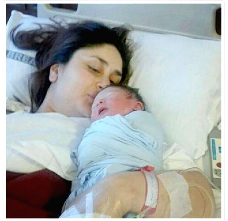 Kareena with the new born baby