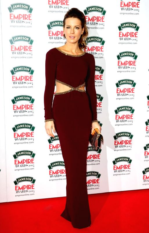 Kate Beckinsale seen during Jameson Empire Awards 2014 in London.