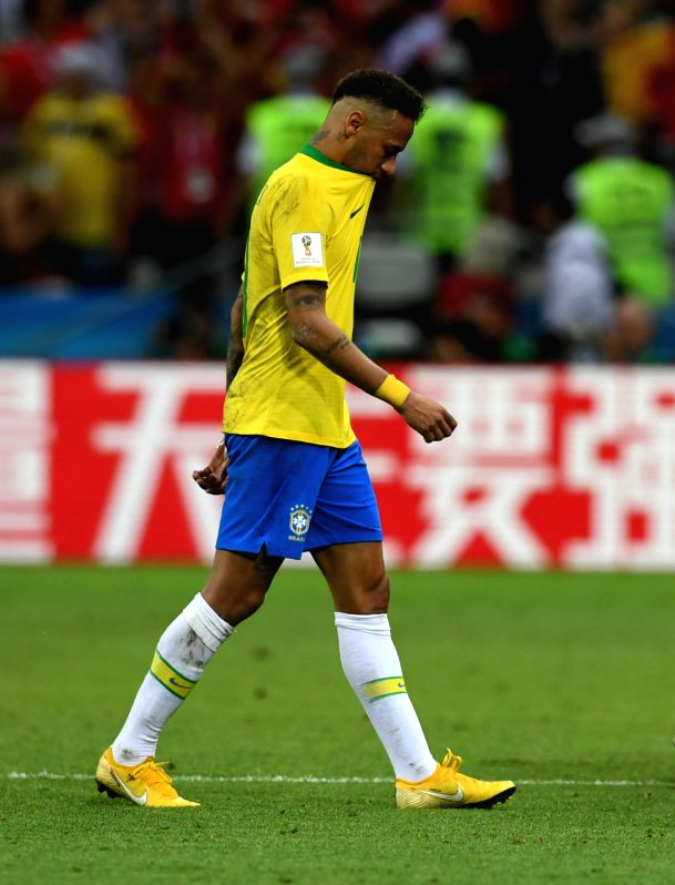 KAZAN, July 6, 2018 - Neymar of Brazil is seen after the 2018 FIFA World Cup quarter-final match between Brazil and Belgium in Kazan, Russia, July 6, 2018. Belgium won 2-1 and advanced to the ...(Image Source: Xinhua/Du Yu/IANS)