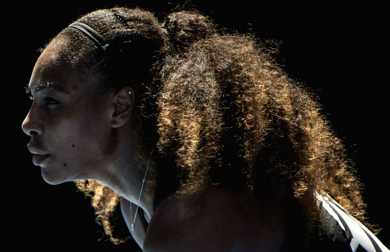 MELBOURNE, Jan. 21, 2017 - Serena Williams of the U.S. competes during the women's singles third round match against her compatriot Nicole Gibbs at the Australian Open Tennis Championships in ...