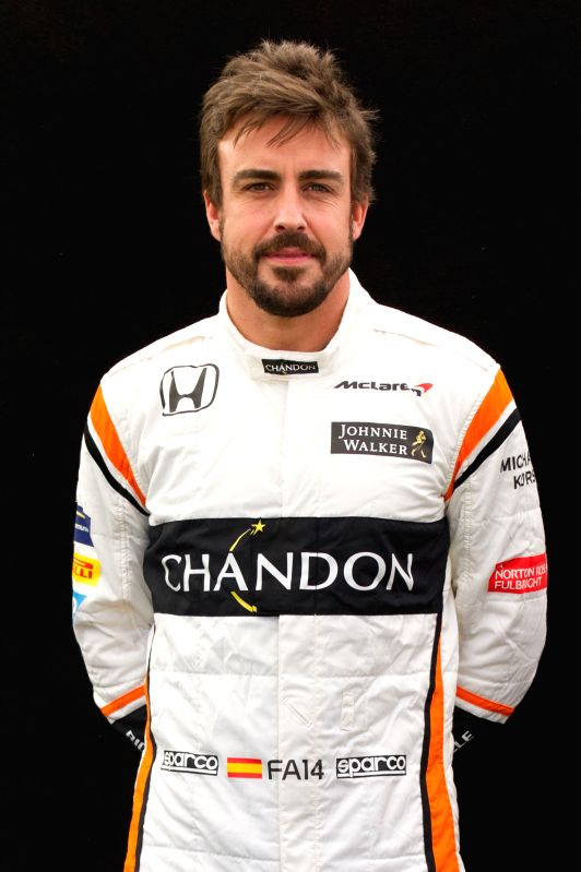 MELBOURNE, March 23, 2017 - McLaren-Honda Formula One driver Fernando Alonso of Spain poses for the portrait session ahead of the Australian Formula One Grand Prix in Melbourne, Australia, March 23, ...