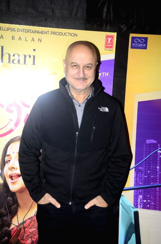: Mumbai: Actor Anupam Kher at the special screening of upcoming film