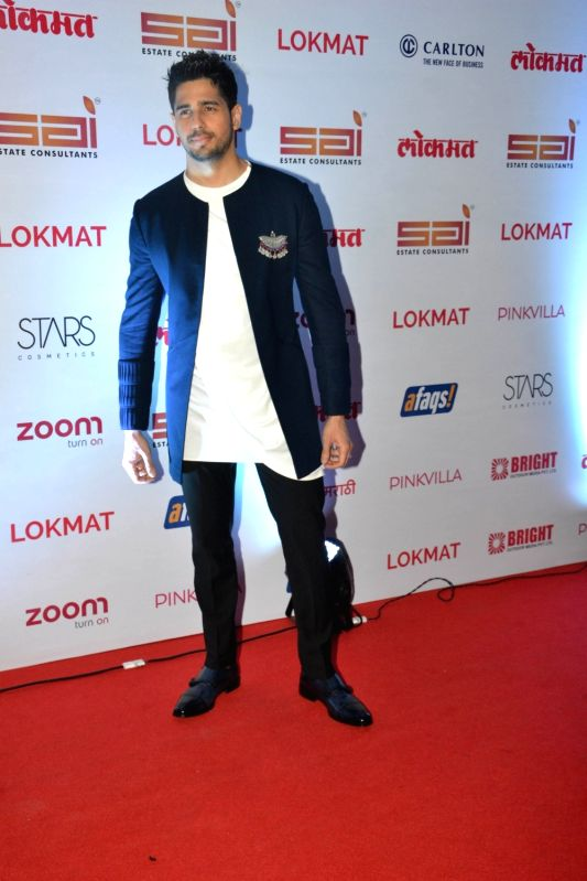 ": Mumbai: Actor Sidharth Malhotra at the red carpet of ""Lokmat Maharashtra's Most Stylish Awards 2017"" in Mumbai on Nov 14, 2017. (Photo: IANS)."