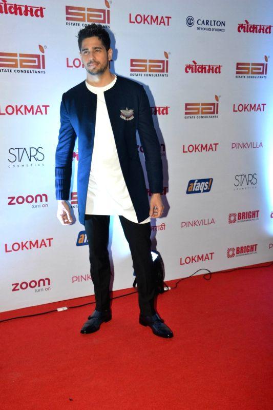 :Mumbai: Actor Sidharth Malhotra at the red carpet of