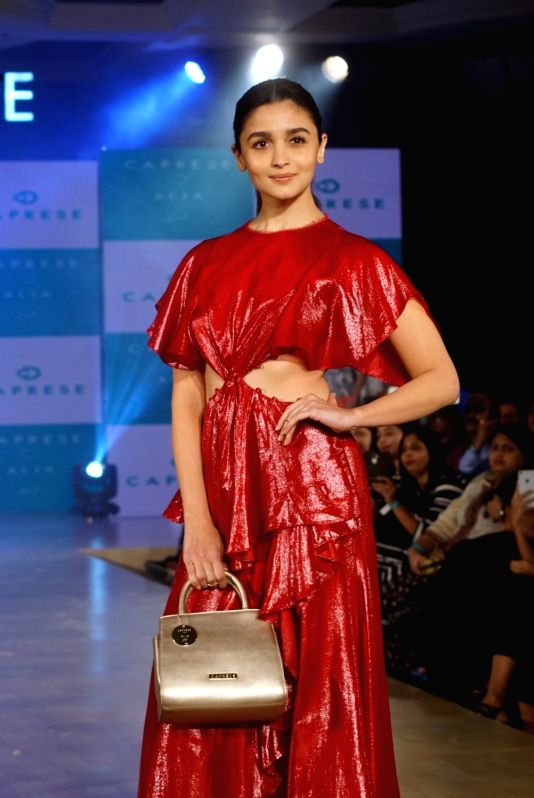 : Mumbai: Actress Alia Bhatt at the launch of Caprese bags new collection in Mumbai on Aug 13, 2018. (Photo: IANS).(Image Source: IANS)
