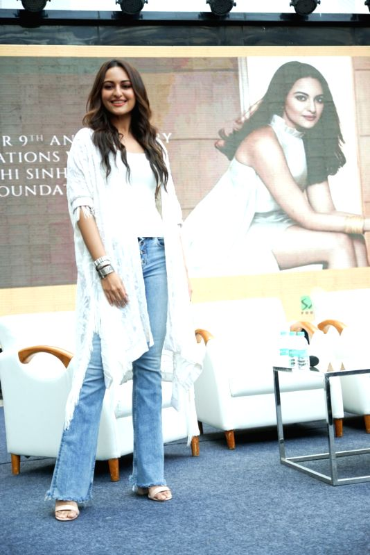 : Mumbai: Actress Sonakshi Sinha during a programme in Mumbai on Oct 9, 2018.(Photo: IANS).(Image Source: IANS)