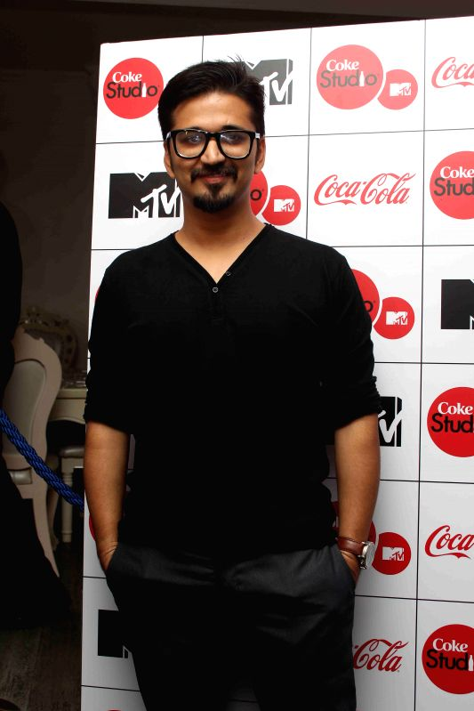 Music composer Amit Trivedi during the launch of musical show Coke Studio Season 4 by MTV in Mumbai, on Feb 23, 2015.