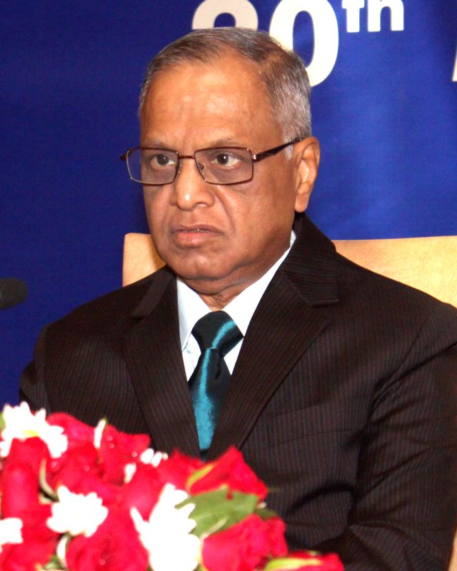 Infosys co-founder NR Narayana Murthy during the 6th Annual Lecture on `Creating a Better India – Musings on Economic Governance Ideas for India` organized by the Competition Commission ...