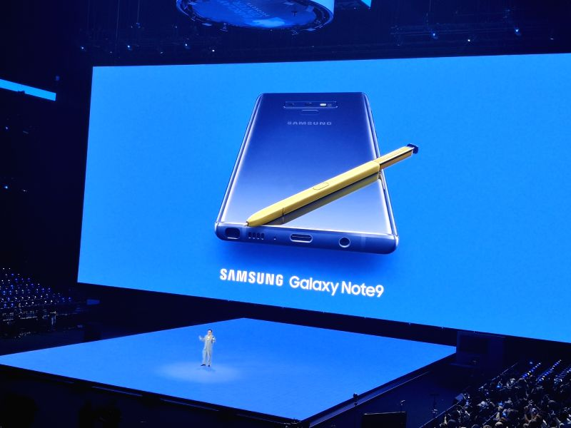 New York: Samsung launches Galaxy Note 9 at Brooklyn Barclays Centre in New York City on Aug 9, 2018.(Image Source: IANS)