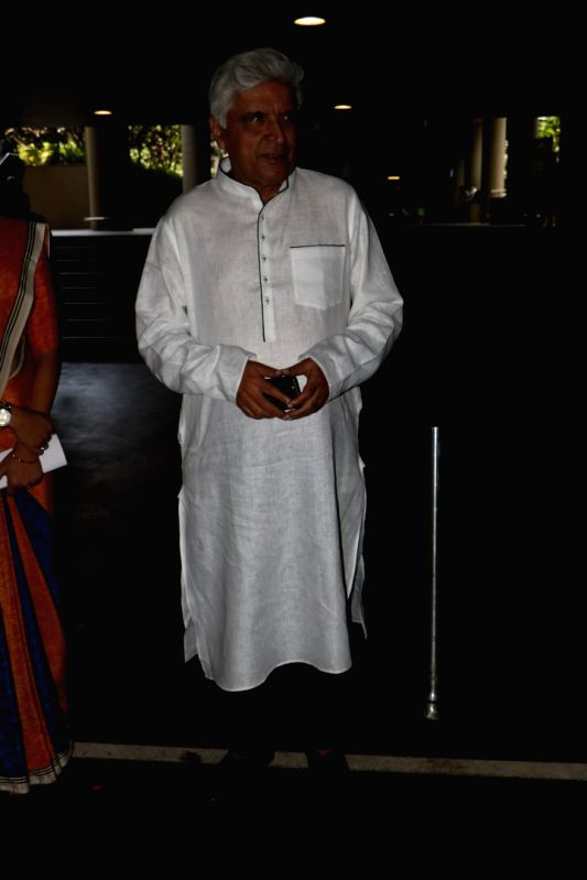 Poet Javed Akhtar spotted at Chhatrapati Shivaji Maharaj International Airport in Mumbai, on June 16, 2017.