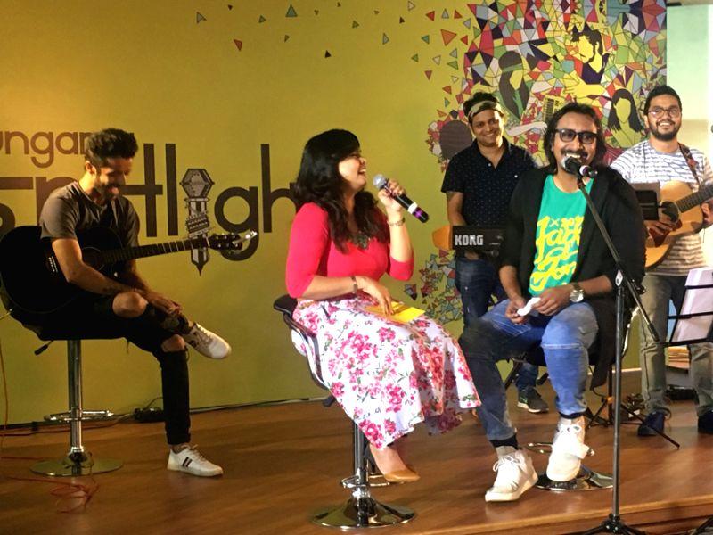 RJ Urnimm with Arko performing on Hungama Spotlight